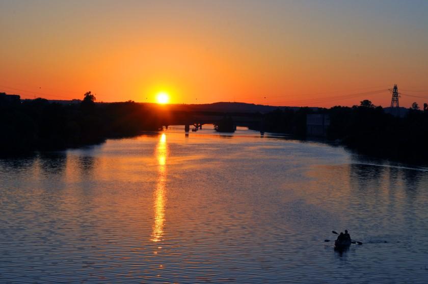 Town Lake at Sunset