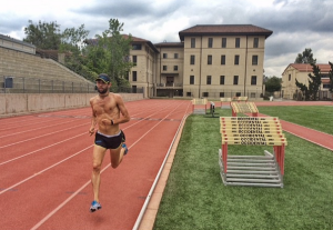 Working out at Occidental College 5 days prior to the Hoka MDC. 2 x 600 + 4 x 400 (127--125--58--57--55--54)