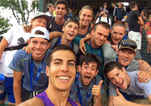 This is Donn taking a selfie with the NJ*NY squad after qualifying for Beijing.